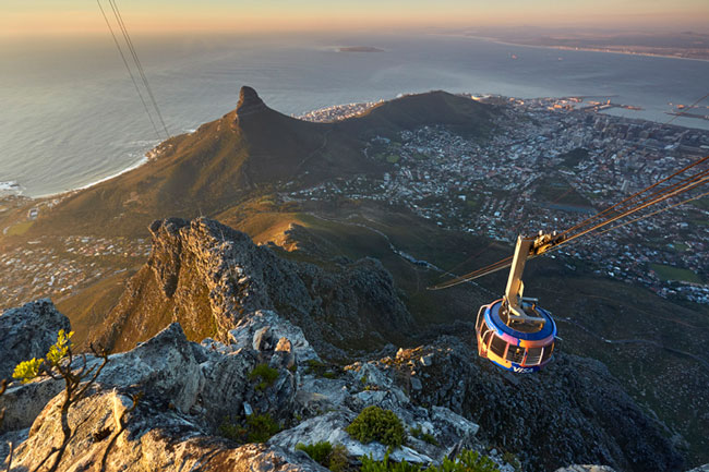 Cape Town City Tour Table Mountain Cableway view